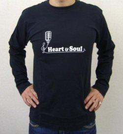 画像1: 数量限定♪クワマンこと桑野信義オリジナルHeart & Soul ロンT♪送料無料