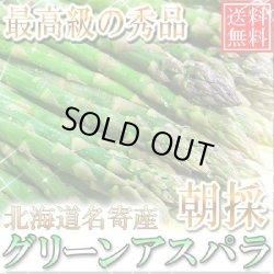 画像1: 5月下旬発送!送料無料/北海道名寄産 グーリーンアスパラ 最高級の秀品 1kg/M〜2L
